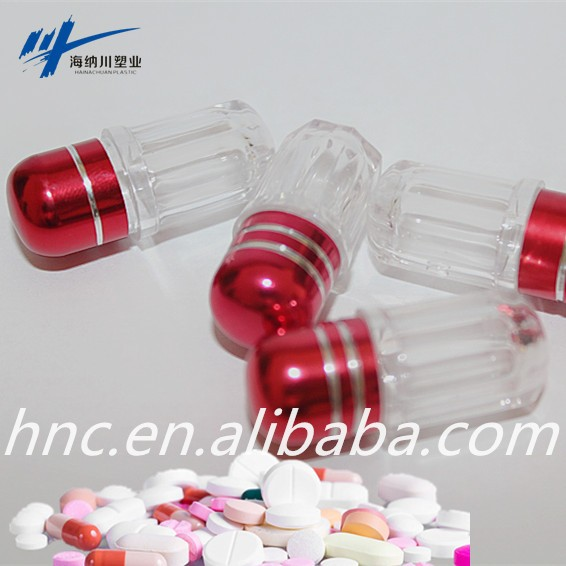 Breast enlargement capsule/ capsule toy vending machine clear green rhino 8 Octago bottom capsule bottle for sex/power pills