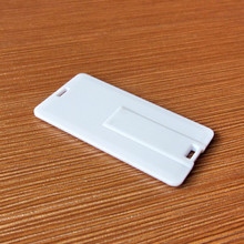 OEM Custom plastic mini credit card USB Flash drives with full color printing both