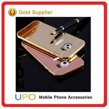 [UPO] Luxury Aluminum Metal Bumper Frame Mirror electroplating Cellphone case Cover For Samsung Galaxy S7