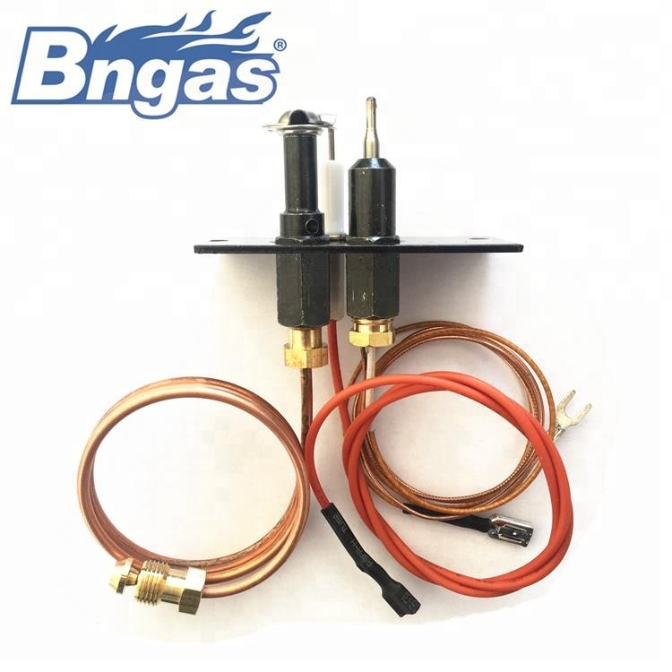 Natural gas fireplace pilot generator ignition pilot burner