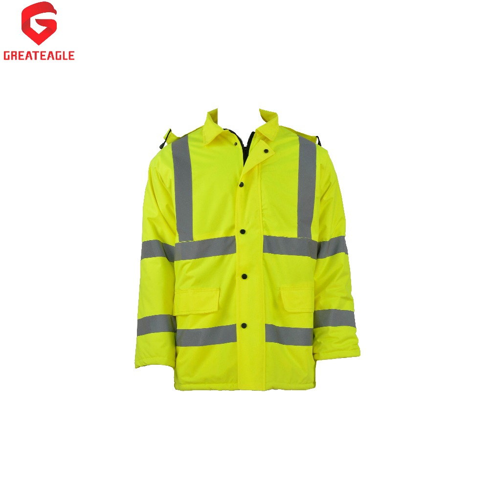 Winter waterproof raincoat reflective jacket with pockets W02