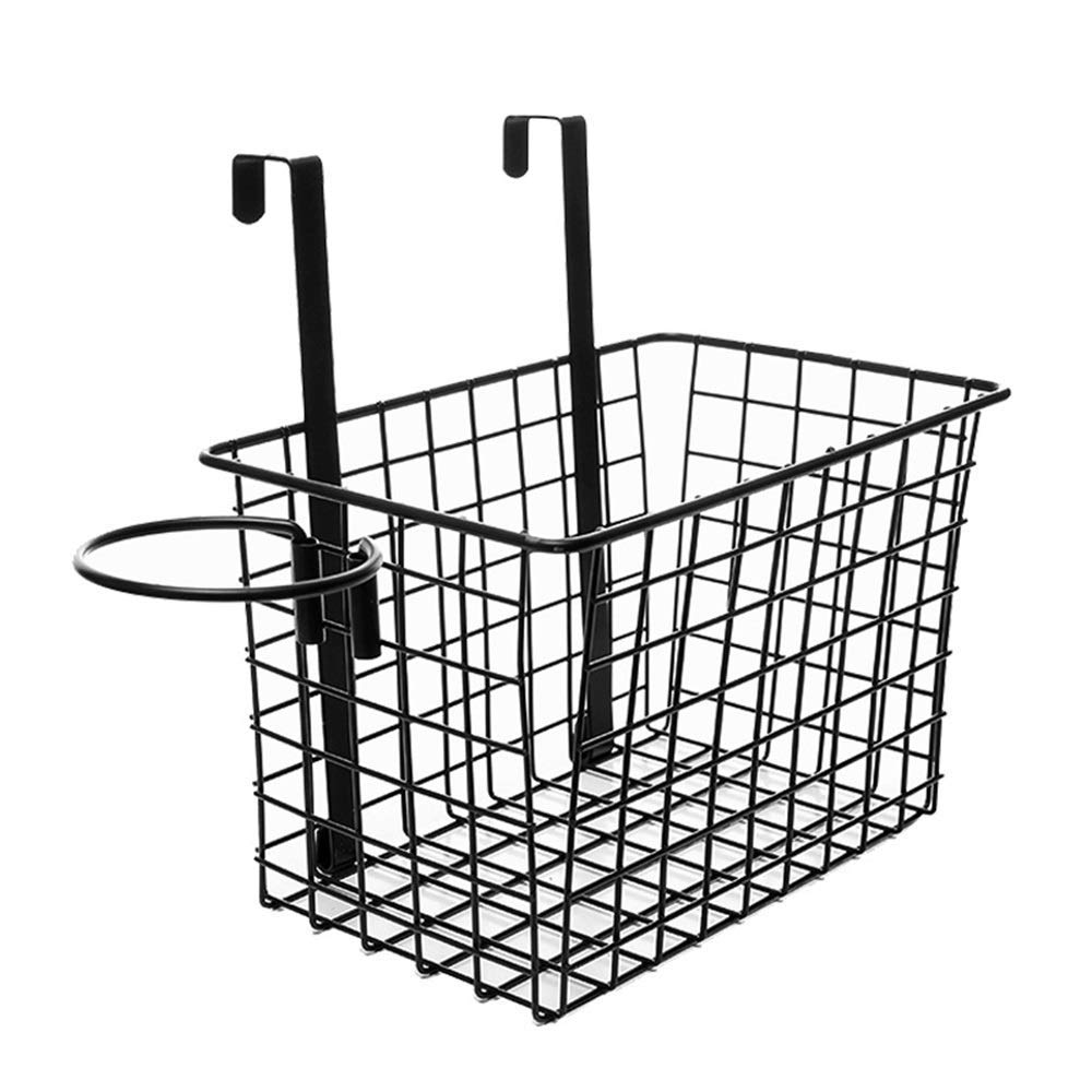 YChoice Rack Decor Wrought Iron Storage Basket Bathroom Shelf Storage Rack Dormitory Under The Basket Finishing Rack Cabinet Kitchen Storage Rack (Color : White)