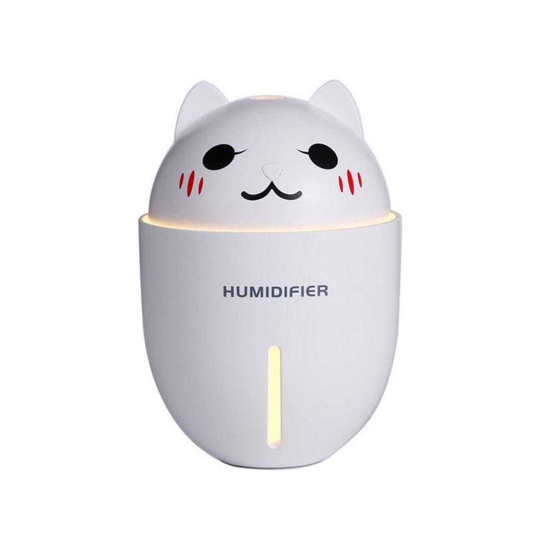 2018 NEW Creative! Caopixx 3 In 1 Air Purifier Portable USB Humidifier Steam Night Light Fan Home Office (White)