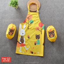 Eco friendly products custom logo printed waterproof kids painting apron