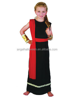 Girls Roman Emperor Queen Black Toga Greek Child Kids Outfit Fancy Dress Halloween Costume AGQ4113  sc 1 st  Alibaba & Girls Roman Emperor Queen Black Toga Greek Child Kids Outfit Fancy ...