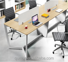 Commercial office furniture 4 person office workstation l sharp partition furniture computer desk