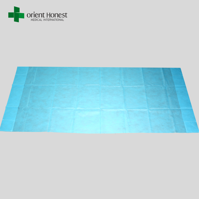 PP blue disposable nonwoven bed sheet for hospital use