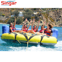 Inflatable water toys 4 person PVC towable tube