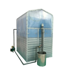 Home biogas plant with gas stove 2 burner