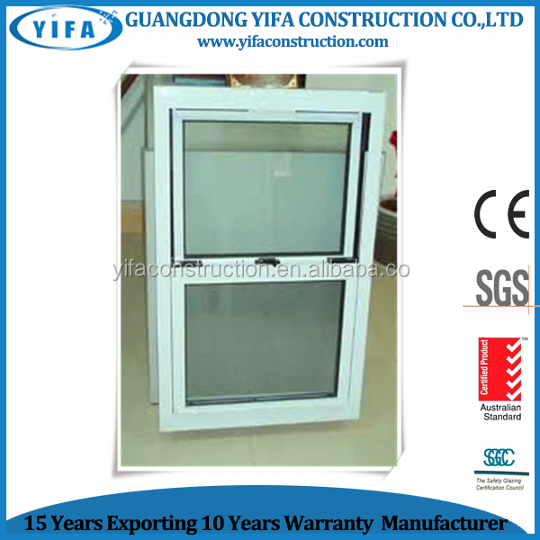 Aluminum Vetical Sliding Window /American Double Side Hung Windows