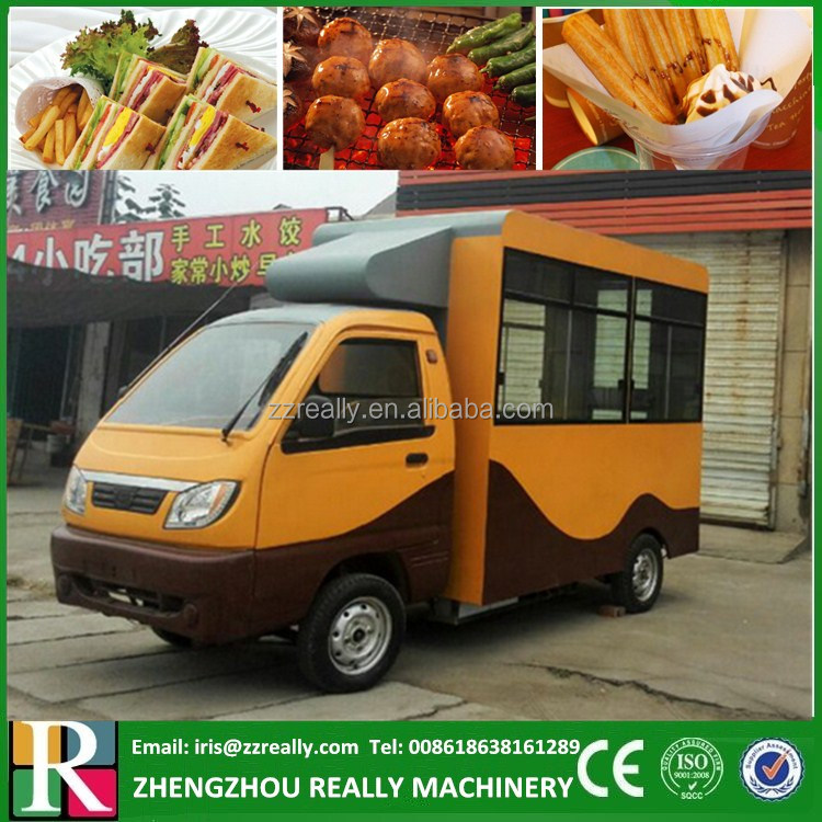 3.7m Big Sale Solar Power Electric Mobile Food Truck For Sale