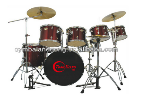 high quality professional 7 pcs sparkle PVC drum kit with throne for sale
