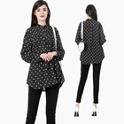 Modest fashion premium islamic clothing printed dot muslim women t-shirt