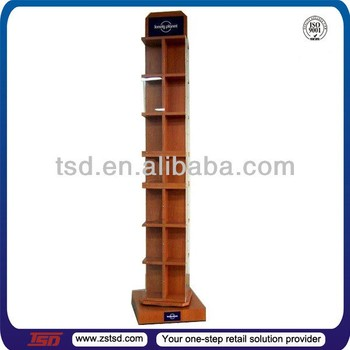 Tsdw40 Custom High Quality Free Standing Wooden Book Display Rack Inspiration Wooden Book Display Stand