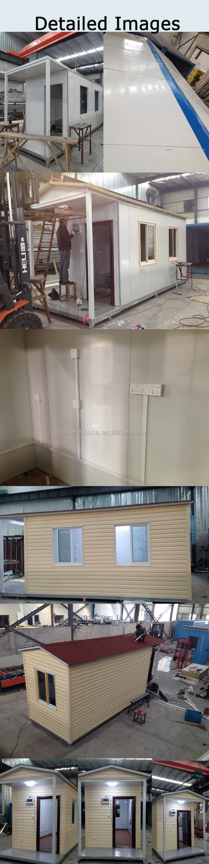 Cheap prefab houses with galvanized steel base container for Cheap metal homes