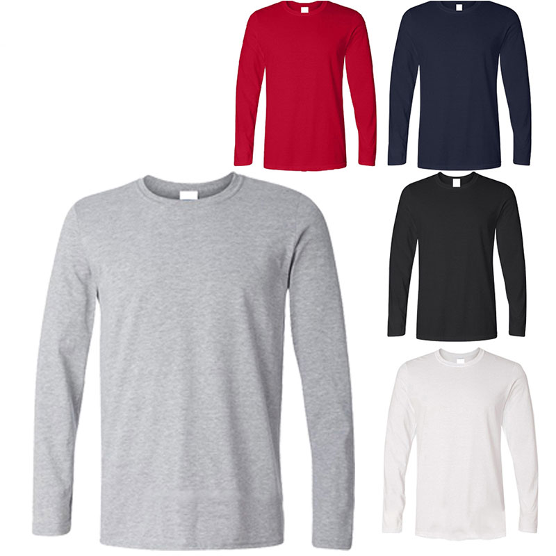 OEM Design Plain Long Sleeve T <strong>shirt</strong> , Custom Pima Cotton Full Sleeve T-<strong>shirt</strong> Men , High Quality Round Neck <strong>Shirt</strong> Long Sleeve
