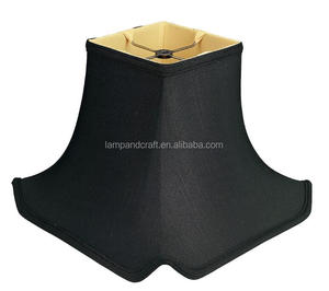 New Softback lampshade With Black Square Bell shape handcrafted For project lamp decoration
