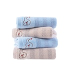 China manufacturer summer 100% bamboo hand face baby towel with embroidery logo