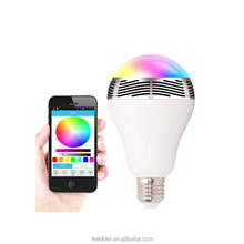 bulb bluetooth ,alibaba china smart phone control wifi led light bulb , wireless speaker with led lamp