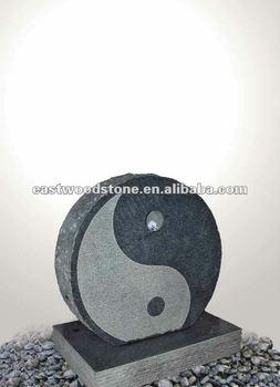 Granit Wasserspiel Ying U0026 Yang