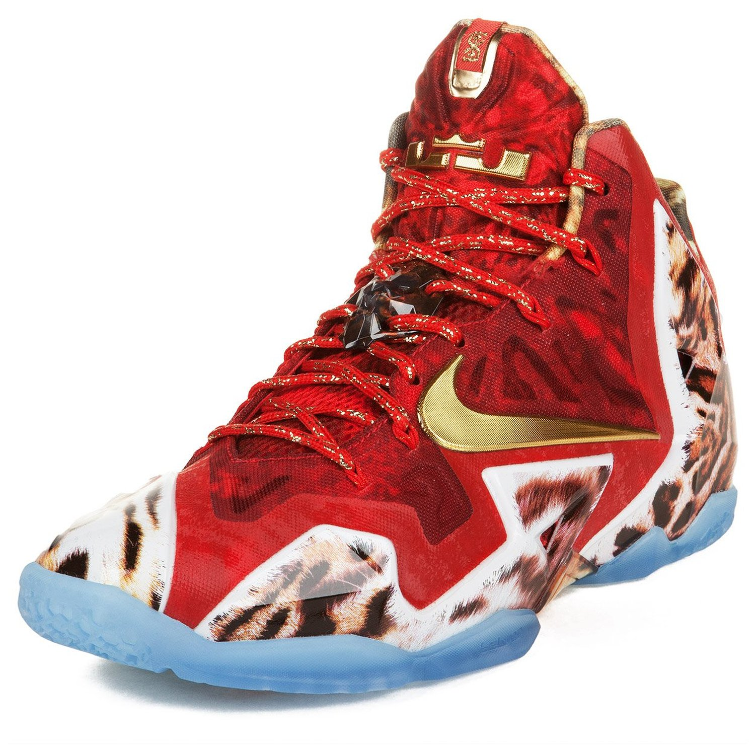 Nike Mens Lebron XI Premium Challenge Red/Metallic Gold-Ic Synthetic Size