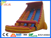 2016 new arrival giant inflatable volcano theme's tropical yellow marble material inflatable water slide