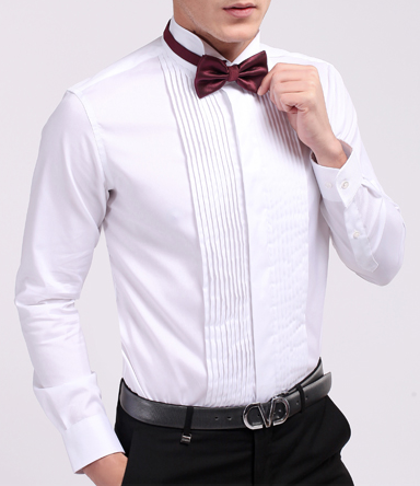 Hot koop italiaanse katoenen bruiloft gelegenheid tuxedo mannen dress shirts