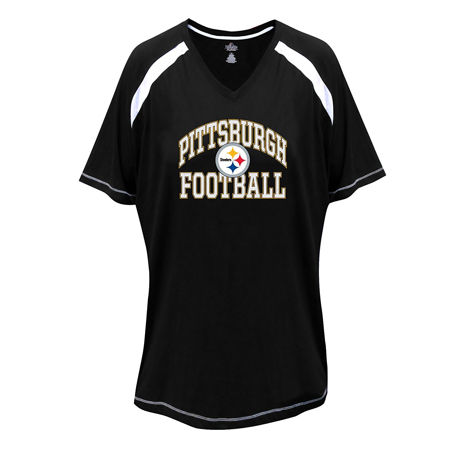 a6b801772 ... Women s T-Shirts. NFL Pittsburgh Steelers Short Sleeve Raglan Tee