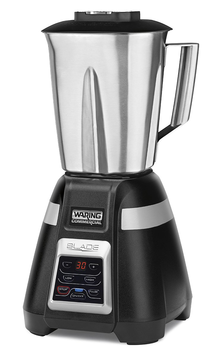 Waring Commercial BB340S 48 oz Bar Blender with Stainless Steel Jar, Black