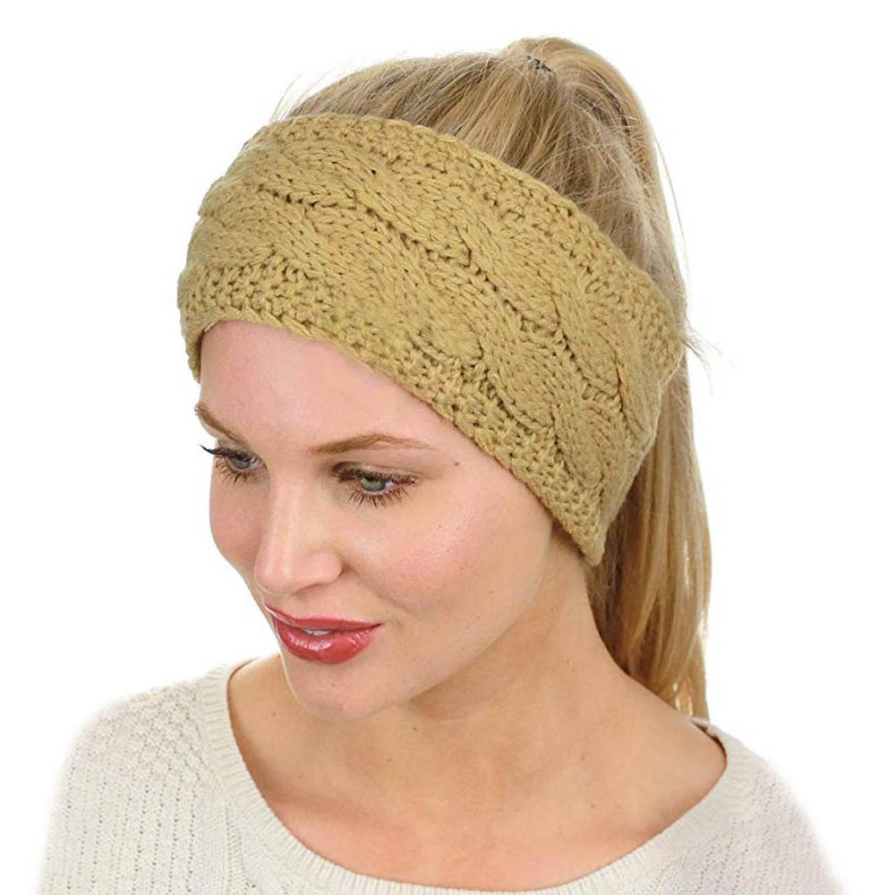 Fashion Winter Ladies Ear Muff Twisted Turban Headband Woolen