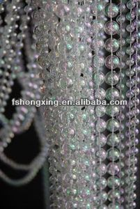 CB205 Crystal strands /Transparent decoration household wedding crystal pendant bead curtain