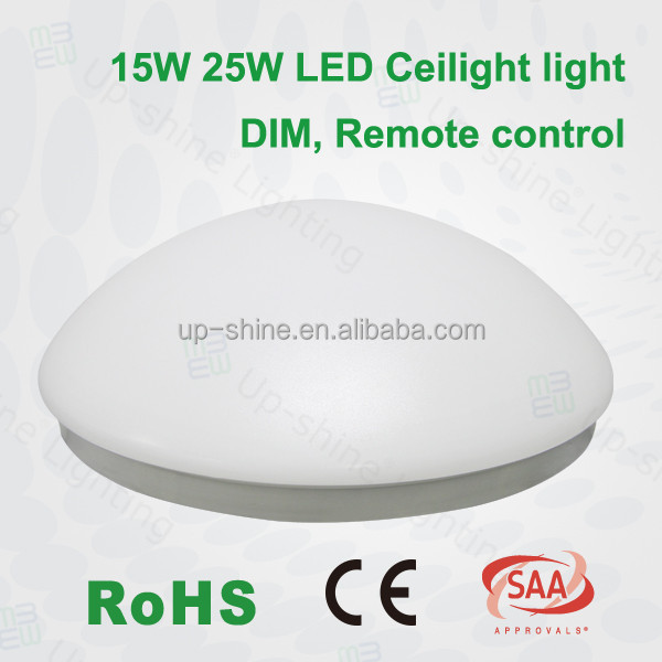 Hot sell Shenzhen Dimmable LED surface mounted 11inch 15W sensor and remote control ceiling lights