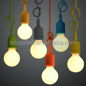 Creative Personal Pendant Light E27 Socket Lamp Rainbow Color Chandelier Braided Electric Wire 0.75mm