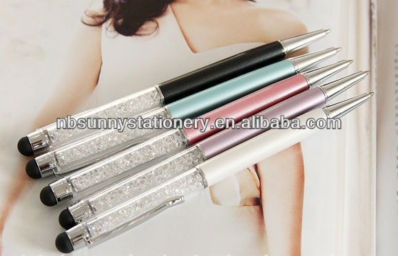 2014 wholesale crystal stylus touch pen for IPad iPod iphone 5S 4S