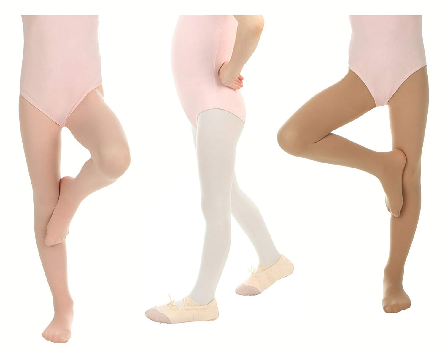 d9602eaae4828 Get Quotations · Silky Toes Girls' Ballet Dance Transition Tights  Ultra-soft Convertible Pro (2 Pack