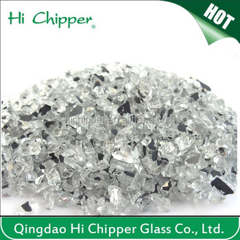 Buy recycled crushed decorative broken glass mirror chips