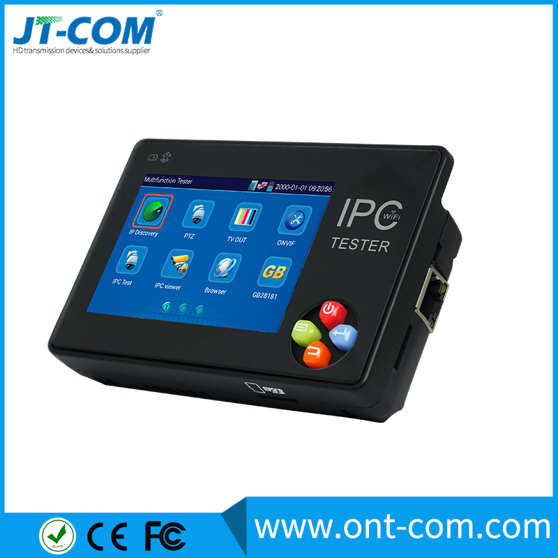 JT-T1600 3.5 inch wrist tft lcd touch screen IP camera cctv tester