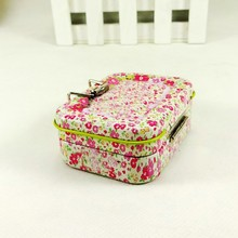 metal rectangle pretty tin box for packaging