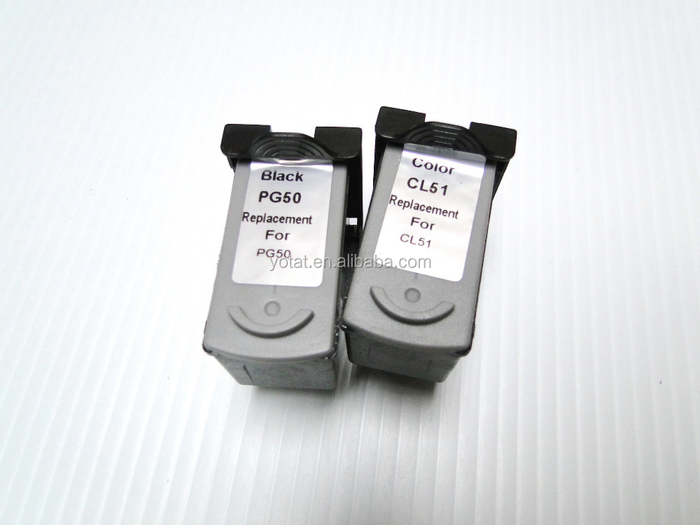 Remanufactured ink cartridge CL51 PG50 for Canon PIXMA MP170 MP150 MP450 MP460 MP160 MP180 ip2200