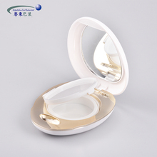 Cute egg shaped ABS empty bb foundation air cushion container