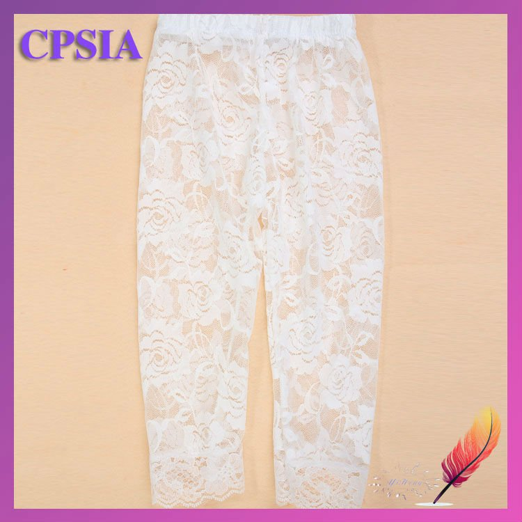 Baby Girls Cream Ivory Beige Flower Lace Pettipants Leggings,Baby Girl Lace Pants