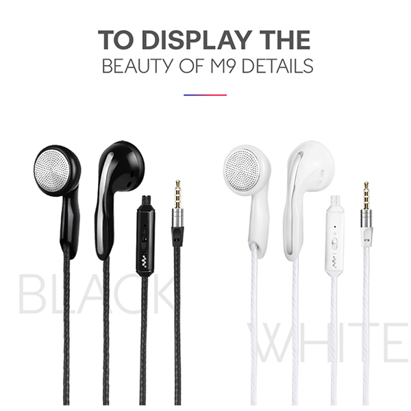 HONGBIAO SM Stereo Bass earphone Headphones Metal handsfree Headset 3.5mm Earbuds for all Mobile Phone mp3 Player