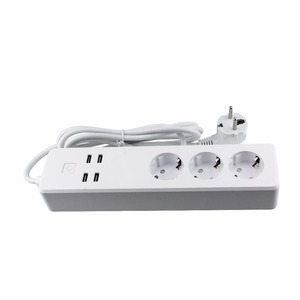 EU Standard WIFI Power Strip with 3 Outlet 4 USB Port