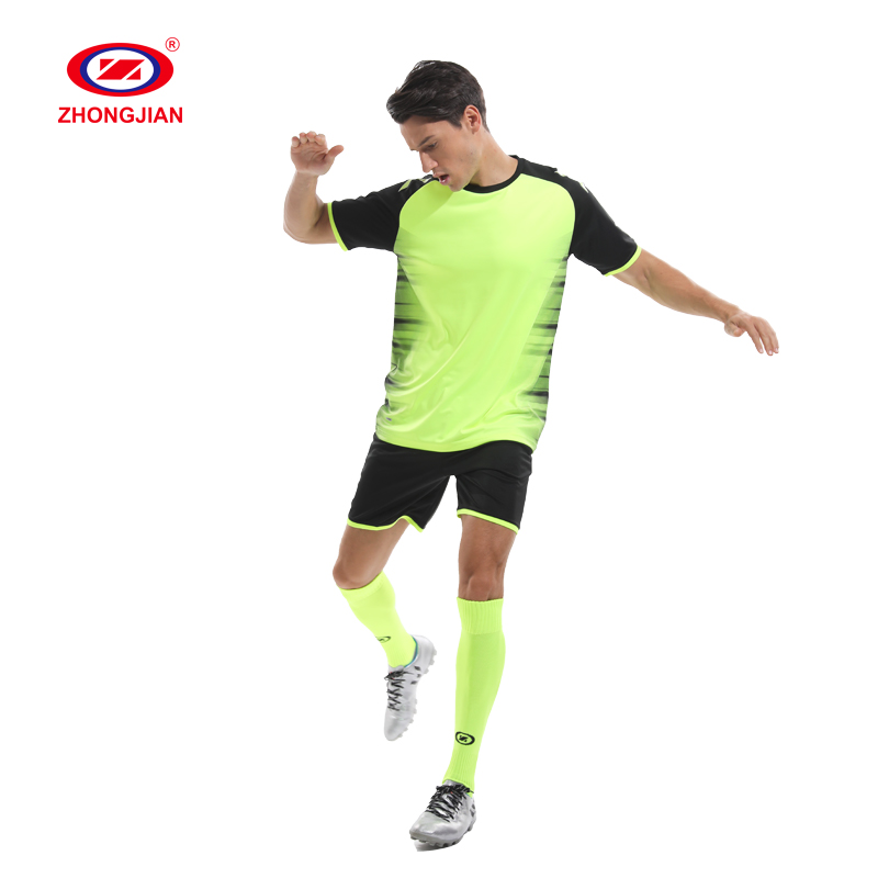 Set fußball jersey trainingsanzug training team wear organic fußball outfit uniform