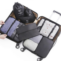 8 Pcs Set Lightweight Travel Packing Cubes Luggage Packing Organizers with Shoe Bag and Toiletry Bag