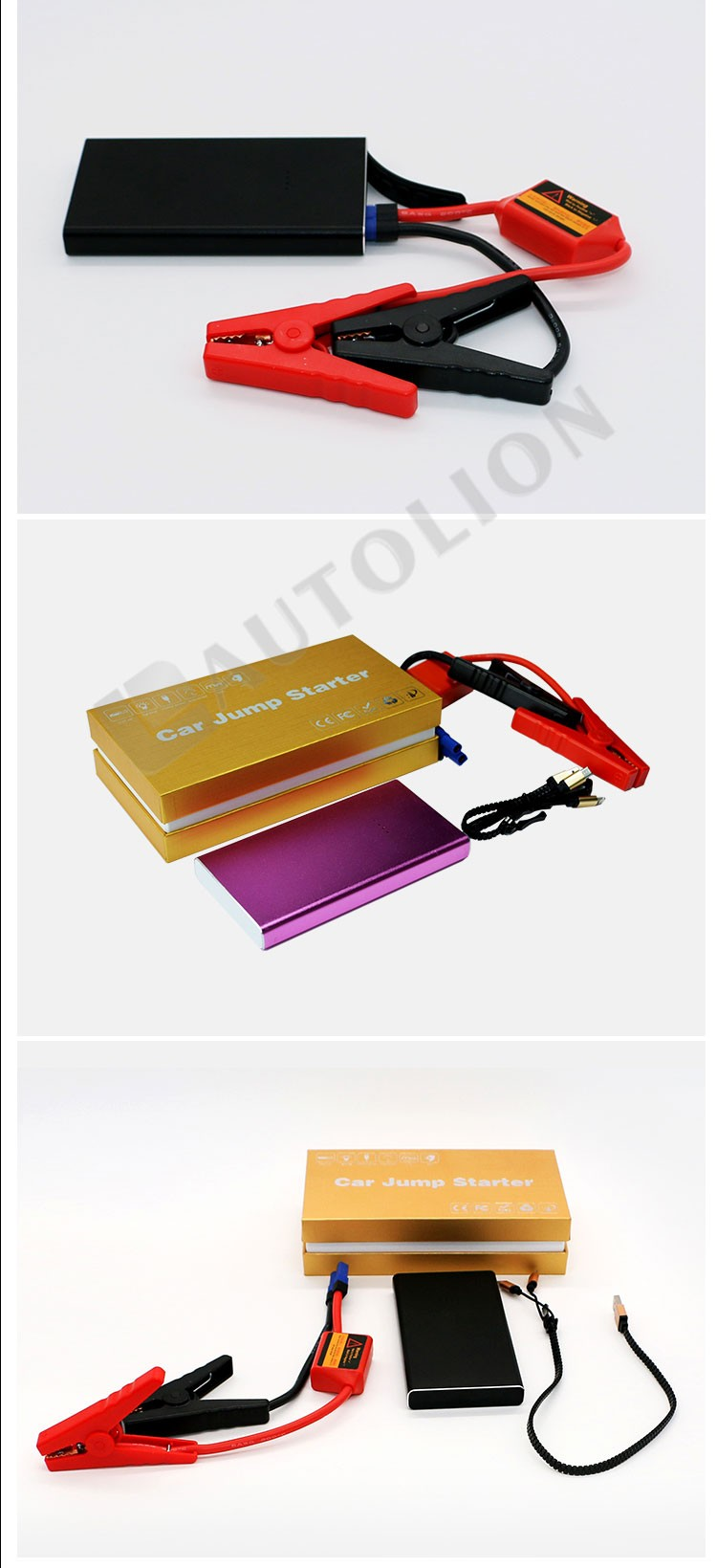 Waterproof super slim jump starter emergency tool mini booster