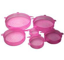 Microwave Safe Food Grade Flexible Platinum Silicone Stretch Lids