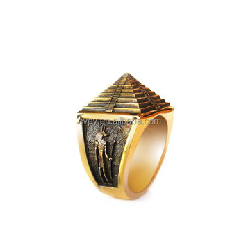 Gold Pyramid Antique Ring For Men
