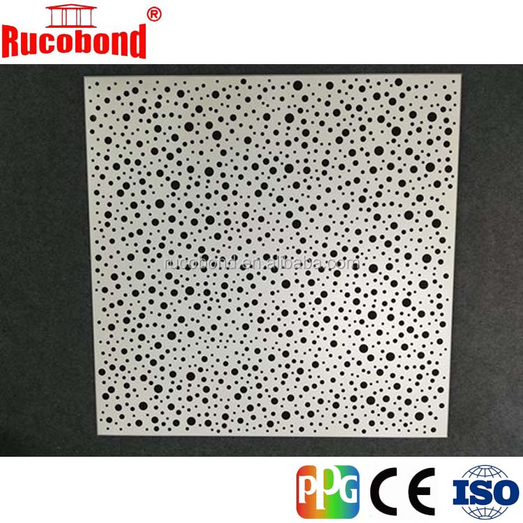 Perforated aluminum honeycomb panel
