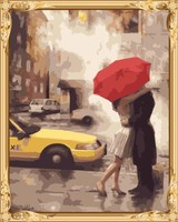 lover women and man kiss canvas oil painting by numbers for bedroom decor GX7473